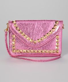 Another great find on #zulily! Hot Pink Studded Shoulder Bag #zulilyfinds