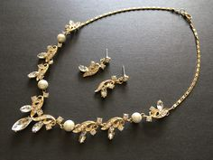 Excited to share this item from my shop: Victorian gold wedding necklace, bridal rhinestones crystals necklace, bridal necklace, jewelry set, wedding jewelry, statement, engaged #gold #wedding #artdeco #classic #goldnecklace #charmsnecklace Wedding Bracelet, Bridal Necklace, Rhinestone Necklace, Crystal Necklace, Crystal Rhinestone, Wedding Jewelry, Gold Wedding, Victorian Gold, Pearl Bracelet