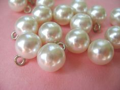 Vintage Buttons or Beads or Charms  12 Pearl Bangle by AddVintage, $3.00