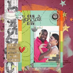 Our Special Day Template: July '13 Template by Sahlin Studio Kit: October Storyteller Kit by Just Jaimee