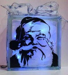 Glass Santa Block by asuncionshija - Cards and Paper Crafts at Splitcoaststampers