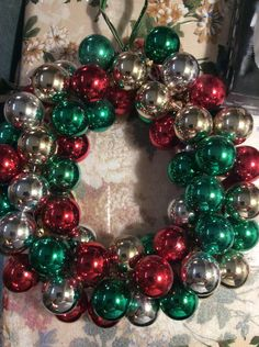 Vintage Ball Ornament Wreath | FaveCrafts.com