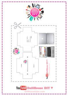 Realistic Miniature APPLE MACBOOK Tutorial! DollHouse DIY ♥