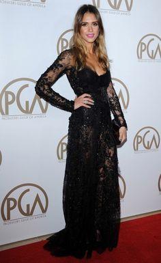 Jessica Alba Beaded Dress