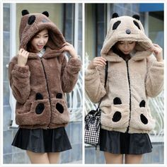 """Kawaii panda hooded coat Add discount code """"Char"""" for 10% off your order with Sanrense.com"""