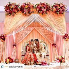 Beautiful floral mandap, would love this design in our wedding colors