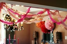 crepe paper criss cross Sweet Butterfly 1st Birthday - Karas Party Ideas - The Place for All Things Party