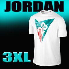 Men's Nike AIR JORDAN 7 VII Diamond T-Shirt White/Teal 642506-100 Size 3XL #Nike #BasicTee