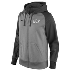 low priced cf7d1 e1046 UCF Knights Nike Women s Full-Zip Performance Hoodie - Gray Anthracite