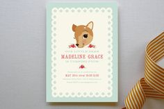 Fancy Fawn Children's Birthday Party Invitations by Pistols at minted.com