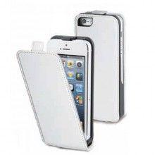Muvit Leder Tasche iPhone 5C - Slim Weiß mit Displayschutzfolie  13,99 €
