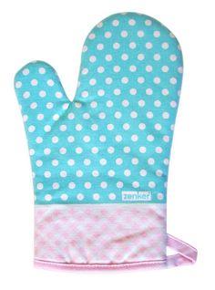 Handschuh bzw. Topflappen mit Punkten und Kreisen im modernen Design.