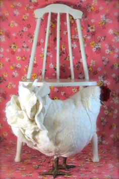 because every princess needs a hand crafted chicken footstool from www.thecitygirlfarm.com