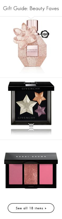 """""""Gift Guide: Beauty Faves"""" by polyvore-editorial ❤ liked on Polyvore featuring giftguide, beauty products, fragrance, perfume, beauty, makeup, fillers, parfum, no color and eau de parfum perfume"""