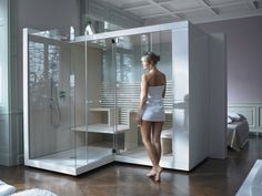 Sauna with shower | Oh I want one!
