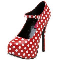 "5 3/4"" Heel, 1 3/4"" Concealed Platform, Polka Dot, Adjustable Strap Mary Jane Pump http://www.amazon.com/dp/B00296WIYY/?tag=icypnt-20"
