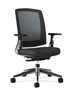 HON Lota MidBack Work Chair with Mesh Back and Polished Aluminum Base for Office or Computer Desk Black * See this great product.Note:It is affiliate link to Amazon.