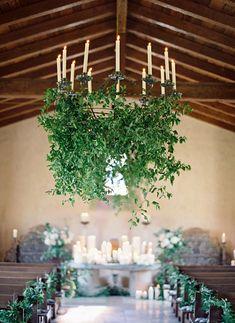 Wedding Wednesday : On Trend - Foliage chandeliers   Flowerona