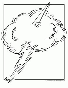 lightening coloring page
