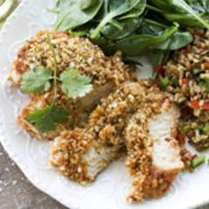 Baked BBQ Chicken Breasts with Panko Breadcrumbs | Just made this- boyfriend approved and delicious!