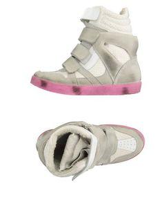 Ishikawa Sneakers In Grey Ishikawa, Two Tones, Wedge Heels, Baby Shoes, Shoes Sneakers, Wedges, Grey, Shopping, Fashion