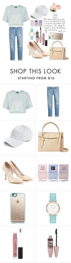 """Hat Edition"" by medianahalizas on Polyvore featuring Topshop, White House Black Market, rag & bone, Foley + Corinna, Lipsy, Nails Inc., Casetify, Anastasia Beverly Hills, Maybelline and Chanel"