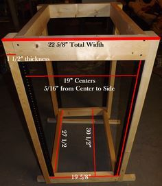 Build your own 19 inch server rack for audio or network/ server equipment.