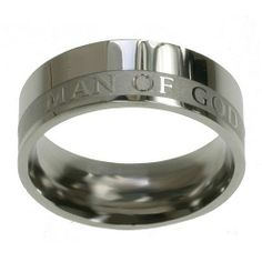 """Christian Mens Stainless Steel Abstinence 8mm """"Man of God"""" 1 Timothy 6:11 Chastity Ring for Boys - Purity Rings for Guys Spirit & Truth, http://www.amazon.com/dp/B004OADDHE/ref=cm_sw_r_pi_dp_jq.tqb0H2XY9M"""
