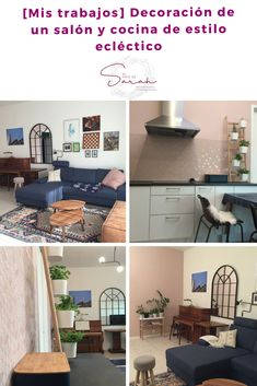 [Mis trabajos] Decoración de un salón y cocina de estilo ecléctico   #decoration #design #interiors #beforeandafter