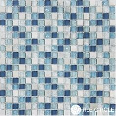 Shop glass mosaic tiles blended for backsplashes, bathrooms and accent walls.  Free Shipping!