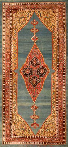 Bidjar Persian rug Persian Motifs, Persian Rug, Floor Art, Floor Rugs, Textiles, Magic Carpet, Tribal Rug, Persian Carpet, Graphic