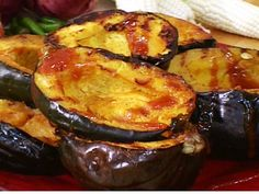 This turned out awesome!  Orange-Glazed Grilled Acorn Squash Recipe : Bobby Flay : Food Network - FoodNetwork.com