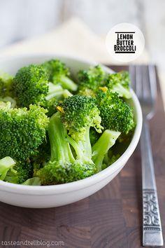 Lemon Butter Broccoli | Taste and Tell