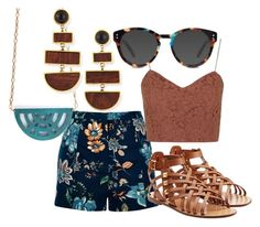 """Ravenclaw Summer"" by hilldod90 ❤ liked on Polyvore featuring River Island, Valentino, Topshop, Ace and Lizzie Fortunato"