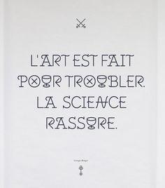 L'art est fait pour troubler la science
