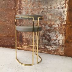 Julius Barstool Brass - Furniture - Kassavello - Bespoke and Designer Furniture