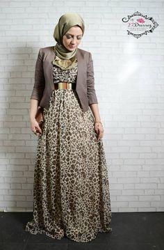 لباس للمحجبات جميل وراق جدا