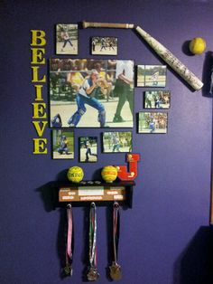 Softball picture collage
