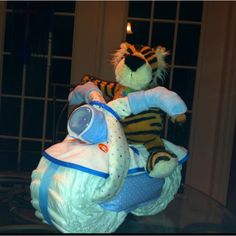 Diaper motorcycle for baby shower craft-ideas