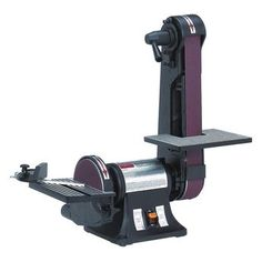 Electric sanders can be found in a range of styles and designs. Take a look at the features for Dayton Belt/Disc Sander. Corded/cordless: Corded, Includes: One Medium Grit Belt, One Medium Grit PSA Sanding Disc, Miter Gauge and Power Cord. Metal Belt Sander, Mini Belt Sander, Bench Sander, Belt Grinder Plans, Best Random Orbital Sander, Knife Grinder, Grinding Machine, Knife Making, Woodworking