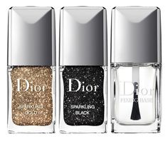 Couture finishing touches with Dior sparkling nails.
