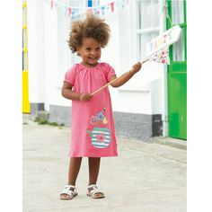 Frugi Το Φορεματάκι της Μικρής Λούσυ σε Κοραλί - Sunnyside