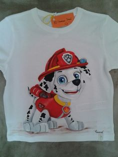 Patrulla canina Bebe Daniels, Paint Shirts, Baby Boy Quilts, Painted Clothes, Fashion Painting, Cartoon Kids, Baby Disney, Painting For Kids, Paw Patrol