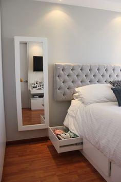 Habitación Daniela: Recámaras de estilo moderno por Home Reface - Diseño Interior CDMX Room Ideas Bedroom, Small Room Bedroom, Home Decor Bedroom, Small Bedrooms, Bedroom Layouts, Bedroom Styles, Bedroom Furniture, Cute Room Decor, Aesthetic Room Decor