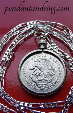 """1936 King George V ENGLISH PENNY Coin Pendant 30/"""" Twisted Wavy .925 Silver Chain"""