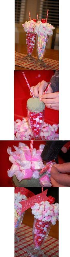 How to make a milkshake centerpice