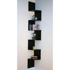 Premier 6 Shelf Corner Bookcase