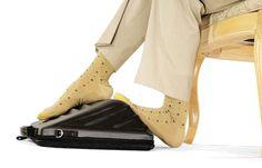 발마사지 노트북 가방 Leggage laptop case offers foot massage during long distance travels