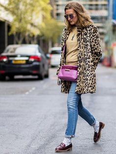 Cheetah print coat | For more style inspiration visit 40plusstyle.com
