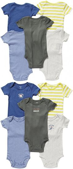Carter's Baby Boys' 5 Pack Bodysuits (Baby) - Asst-Boys - Assorted-ST - 3 Months